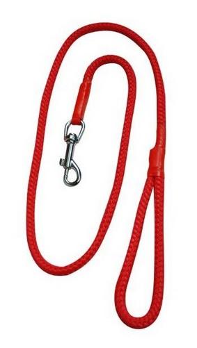 sklep zoologiczny CHABA Smycz linka - 14mm x 120cm czerwona