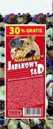 sklep zoologiczny Natural-Vit Jabłkowy Sad mieszanka dla gryzoni 300g