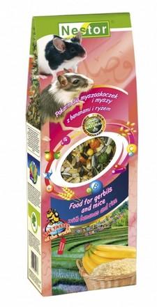 sklep zoologiczny Nestor Pokarm Myszoskoczek i Myszy banan, ryż 700ml