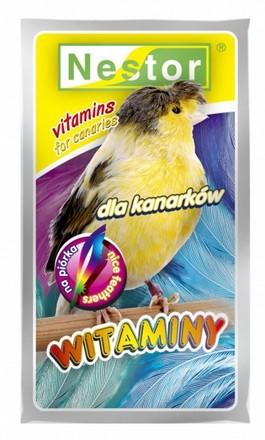sklep zoologiczny Nestor Witaminy dla kanarków na piórka