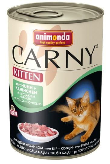 sklep zoologiczny Animonda Carny Kitten Kurczak + Królik puszka 400g