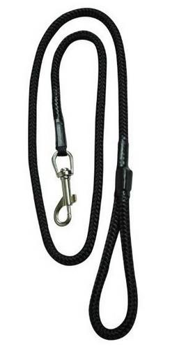sklep zoologiczny CHABA Smycz linka - 10mm x 120cm czarna