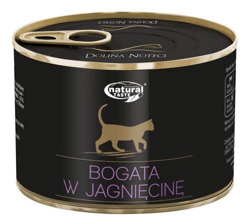 sklep zoologiczny Natural Taste Kot z jagnięciną puszka 185g